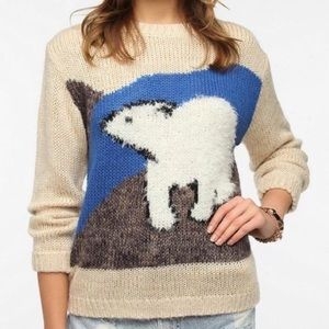 Anthropologie Polar Bear Pins and Needles Sweater